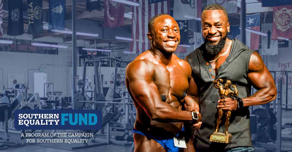 Wes Phills, Overall Bodybuilding Competition Winner 2018, and Shawn Stinson, two-time IATB Overall Bodybuilding Competition winner and now IATB Head Judge