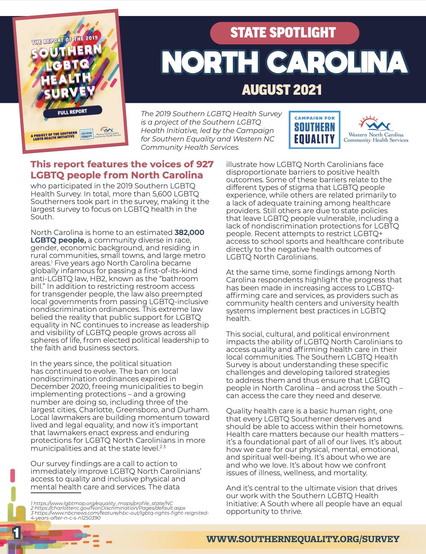 NC Survey Report Cover
